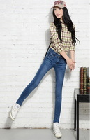 lady lovely jeans  Pencil Pants  cotton jeans  04 Thin Jeans  Women  Lady's fashion Jeans  high quality