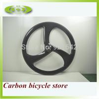 The cheapest 700C carbon tri spokes wheel for road bike front or rear 3 spoke road bike wheels
