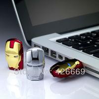 DHL  Hot sale Fashion Avengers Iron Man LED Flash 4GB 16GB 32GB 64GB 128GB 256GB 512GB USB Flash 2.0 Memory Drive pen drive