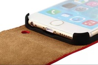 *300pcs/lot* Fashion Crazy Stand PU Leather Case side open  for iPhone6+ plus   5.5inch