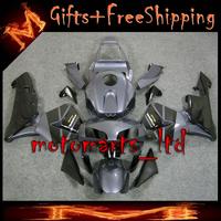 * INJ Fairings For HONDA CBR600RR 2003 2004Fairing Set Black Dark Grey Bodywork Fit CBR 600 RR CBR600RR 2003 2004 11FR W1- INJEC