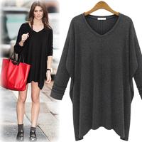 2014 Autumn Fashion Women'S Knitting Dress Fashion Sexy Plus Size Autumn Long-Sleevecasual Dress