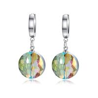 Beauty Colorful  women earrings stainless steel earrings for women earring with stone jewelry EH-057