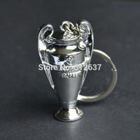 Wholesale high quality Resin uefa champions league football trophy keychain sport club internacional football souvenir