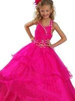 Pink Girl's Pageant Sweet Princess Dresses Girl's Formal Dresses Children !