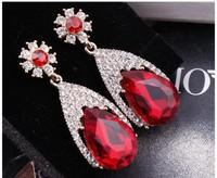 Wealthy Ppscale Fashion Flash Rhinestone  Earrings Exaggerated Earrings