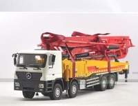 1/35 XCMG Benz Construction  mounted concre Truck Diecast Metal toy