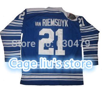 Good Customer reviews Jersey!2014 winter classic jerseys! Toronto #21 James van Riemsdyk hockey jerseys, please read size chart(China (Mainland))