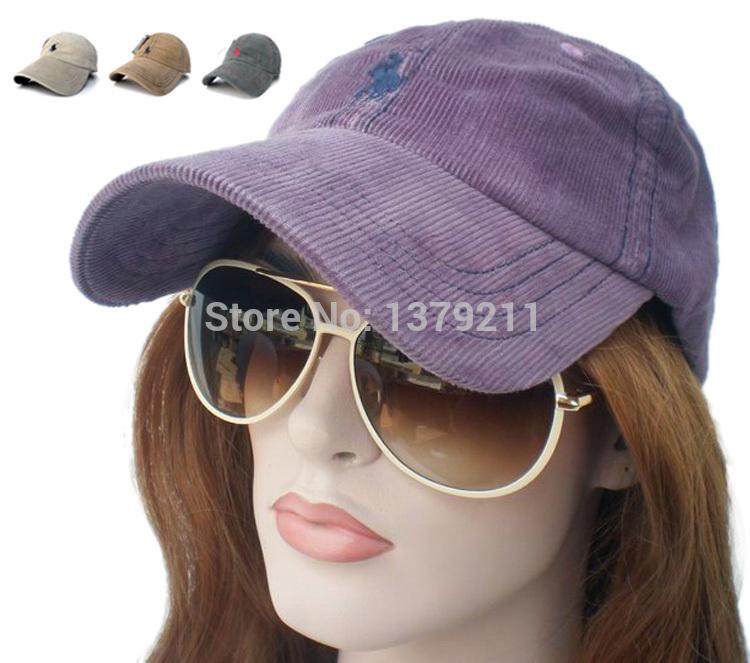 Free shipping Purple Cap Corduroy Polo Golf Tennis baseball Hat Outdoor Women Unisex PO19(China (Mainland))