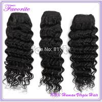 Ali Favorite Hair 6A Brazilian Virgin Hair Weaves 3PCs/Lot Bundles Unprocessed Virgin Brazilian Deep Wave Human Hair Extension