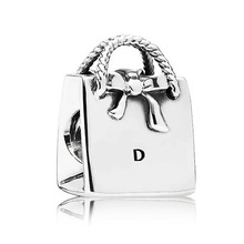 PS805 Free Shipping plane 925 sterling silver bag charms beads Bracelet screw 791-184 ball European bead for women lady