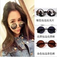Circle sunglasses female star style 2013 vintage mercury reflective sunglasses sun glasses
