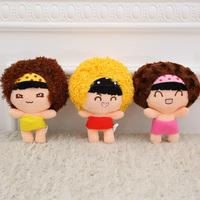 12 pcs/lot 7'' 18 cm mini Mocmoc dolls soft stuffed plush toys(yellow red pink), cute small stuffed toys for baby girls dolls