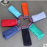 Hot Plus Size Solid Color 100%Cotton Boxers Shorts Men'S Underwear Male Plus Increase Cuecas Boxer 10Pcs/Lot Nh17