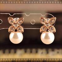 11.11 jewelryHan edition clovers popular fashion fair maiden temperament set auger pearl pendant wholesale
