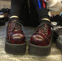 Womens 2014 designer shoes european style demonia gothic punk boots wedges platform boots harajuku lace up boots free shipping
