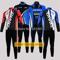 Giant MTB Cycling Jersey Winter Thermal Warm Fleece Cycling Clothing Long Sleeve Unisex for women men sportswear s-xxxl