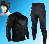 High quality fashion football soccer goalkeeper safety sports helmet kneepad knee shin leg head elbow pad protector guard