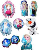 HOT 12pcs/set Frozen party foil balloons Frozen Queen balloon birthday Classic toys party supplies