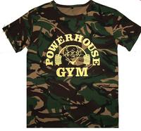 New men's gym T-shirts Gold NPC POWERHOUSE GYM Fitness GYM T shirts GASP loose short sleeve t-shirt Body building T-shirt