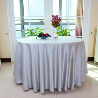 Hotel tablecloth round table cloth square hotel cloth satin table cloth customized size accept