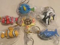 6 pcs/lot 5-6cm cartoon character fish figure set toy keychain pedant for kids
