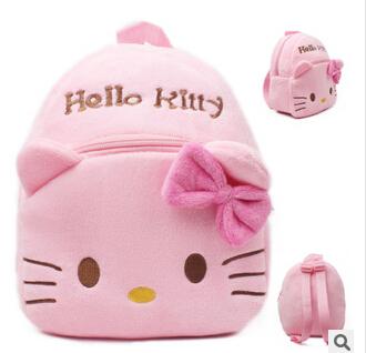 Novas tendências olá kitty dos desenhos animados mochila crianças mochilas escolares olá kitty bolsas para meninas / olá saco kitty para crianças(China (Mainland))