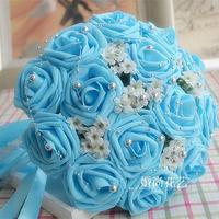 Free Shipping Wedding Bouquets Flower Bouquet Holder Handle Wedding Accessories Bridal Bouquets Bridesmaid Flower 28-30CM WB-30B