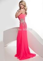 Fashion One Shoulder Shinig Sequined with Sweep Train Evening Dresses Vestido De Festa Cheap Formal Evening Gowns Party Dresses