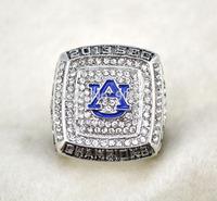 Free Shipping  Men ring Replica rhodium plated NCAA 2013 Auburn Tigers NCAAF SEC BCS National Championship ring-Mason