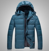 Hot Sale! men's Brand New Winter Down Coat male Loose solid color hooded Cotton coat fashion warm big size Thick Padded Jacket