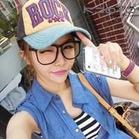 5Pcs/Lot Vintage plain eyeglasses Fashion female glasses Cool Girl Eyewear with Lens Free Shipping