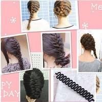 Fashion Lady Womens Hair Braid Tool Hair Twist Roller Elastic Hair Bands Braid Hairpeice Tools