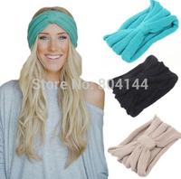 women knit Headband Beanie Ear Warmer Knitted headwrap turban bow