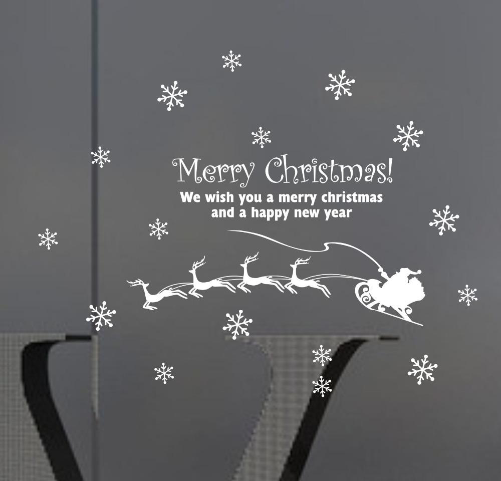 Santa Claus christmas wall stickers Vinyl Window Wall Stickers Decal decor(China (Mainland))