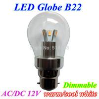 Latest LED B22 base Globe Bulb 6W Bubble Ball Bulb with 6smd 5730 Chip Energy Saving For Bedroom Bathroom illumination
