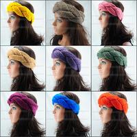 Free shipping,HOT colour handmade headwrap knit headband crochet headwear hair ear warmer