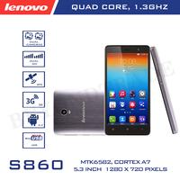 Original Lenovo Brand S860 Quad Core Android 4.2 SmartPhone MTK6582 5.0 Inch IPS Screen 1920X720P 1GB RAM 16GB ROM 8.0MP Camera