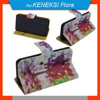 New Free Shipping 360 Degrees Rotating Cartoon PU Leather Universal Case + Free Gift For Keneksi Flora