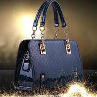 Arrival autumn winter hot sexy handbag colorful PU patent handbag messager dual purpose business leather bag BG0001
