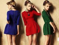 Free ShippingEurope and the stylish slim plus size long sleeve OL dress