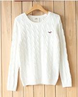 Free ShippingWholesale-fall 2014 women's clothing new twist College Turtleneck Sweater knit sweater