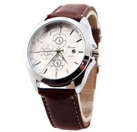 relogio masculino Fashion Luxury Men's Leather Strap Watches With Calendar Date Display Brand Quartz Men Watch military quartz