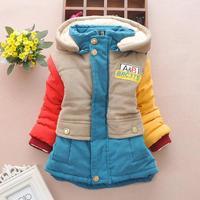 4pc/lot high quality boys coats winter thicken new kids clothes  spliced children jackets woolen factory panya jll07