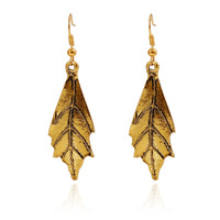 EH88 Fashion Exaggeration Retro/Vintage Simple Leave Earrings