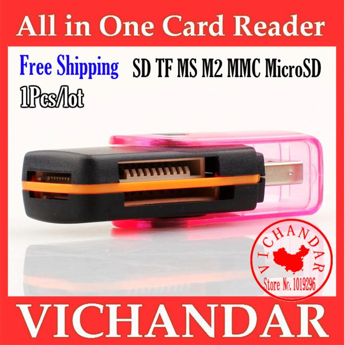 Cardreader multi micro sd usb adapter all in one card reader ordinateur portable cartao de memoria 64gb micro sdxc card reader(China (Mainland))