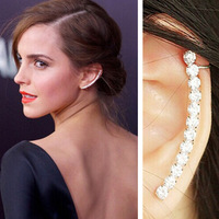 Star same styles women's high quality personality earring clip set silver full rhinestone clip earring 3pcs or more get 20% off