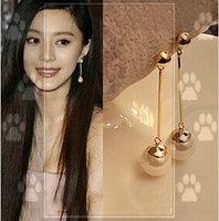 11.11 shipping jewelryFan OL temperament star long fashion Pearl Earring stud earrings DY