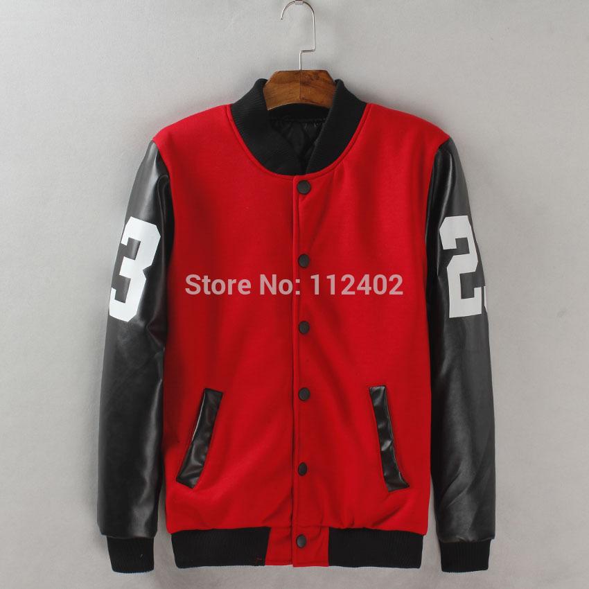 In 2014 the new leather jacket sleeve of 23 digital baseball uniform