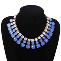 Wholesales Christmas gift for women Statement necklaces multicolors